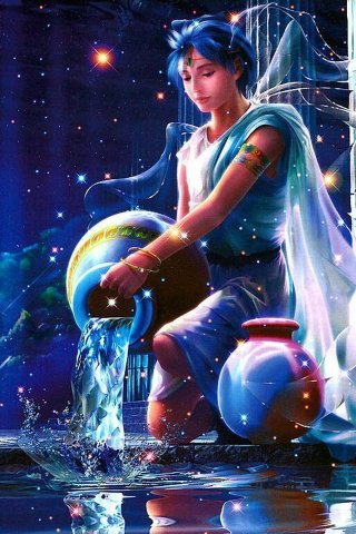aquarius the water bearer pours the water backWater Bearer Aquarius