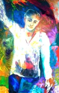 Painting in oil by Nancy Wait (1985) 32x46