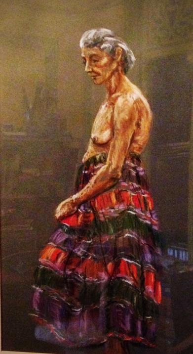 Student work, pastel, Nancy Wait (1979)