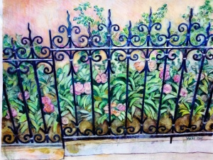 watercolor and colored pencils by Nancy Wait 2007