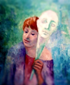 """Mask"" by Nancy Wait; oil on canvas (1982)"