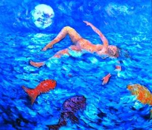 """""""Sinking"""" by Nancy Wait; oil on canvas (1982)"""