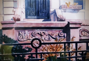 watercolor by Nancy Wait (1994)