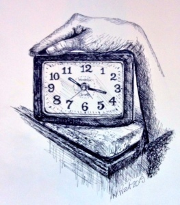 hand on clock