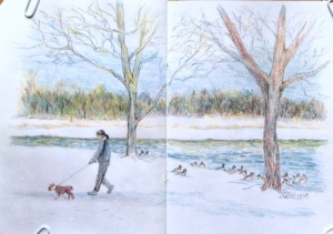 Prospect Park, winter, by Nancy Wait