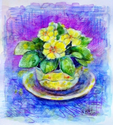 Primroses by Nancy Wait (2015)