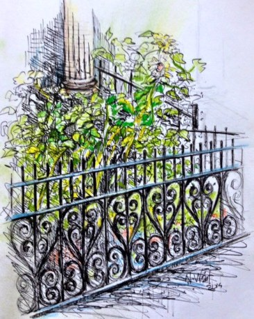 Wrought-iron fence on 8th St., Park Slope by N.Wait