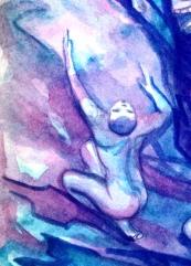 Detail of watercolor by N Wait 1987