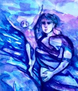 Detail, watercolor by N Wait 1987